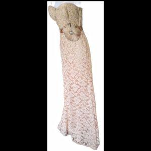 Vintage rose gold lace dress